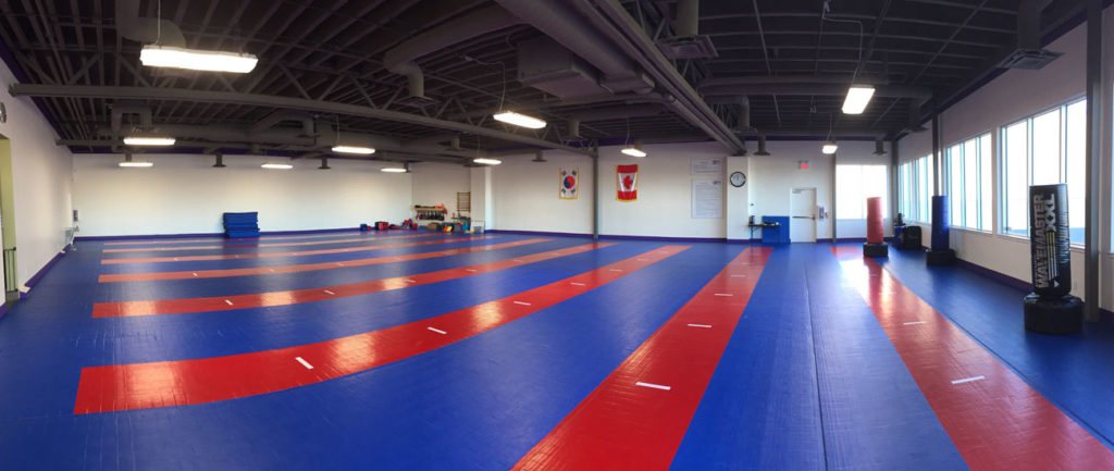 One of the largest martial arts training floors in Canada