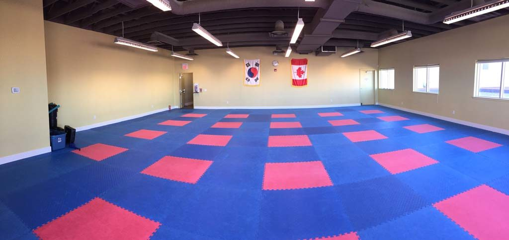 Upstairs dojang floor - little tigers